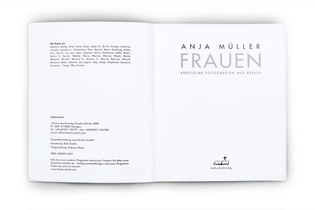 Anja Müller Berlin Fotografie Bildband Frauen konkursbuchverlag 2000